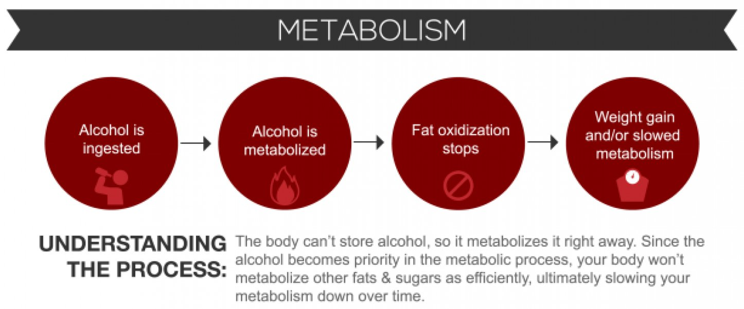 Infographic: Alcohol and Weight Gain